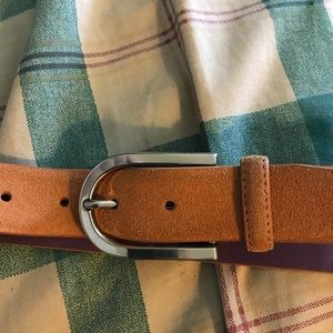 Ike Behar Accessories - Ike Behar Man's Suede Belt New Size 42